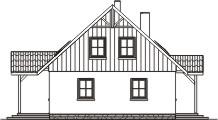Domek Ciepły 012 BK + Z - Elewacja lewa