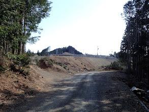 伐採地から見えていたソーラーパネル
