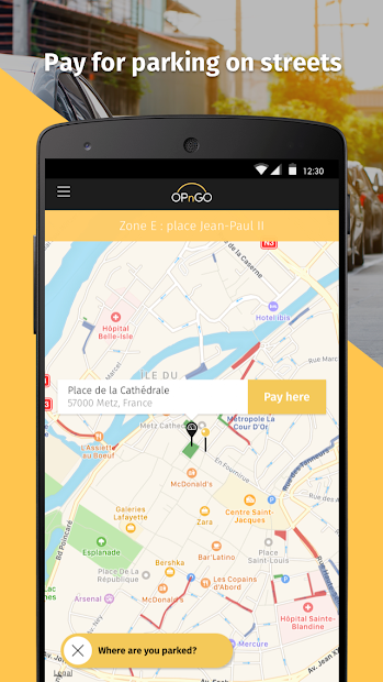 OPnGO - Parking Android App Screenshot