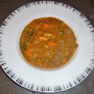 Healthy White Bean, Squash and Kale Soup