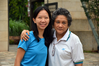 Photo: Pushpa, our Principal and Alice our vice-Principal were there to welcome all the participants at the entrance.