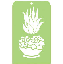 Kaisercraft Mini Designer Templates 3.5X5.75 - Succulents