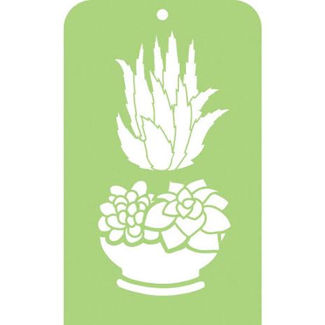 Kaisercraft Mini Designer Templates 3.5X5.75 - Succulents