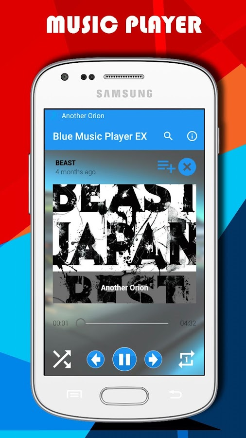 Blue Music Player EX- screenshot