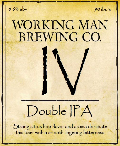 Logo of Working Man IV Double IPA