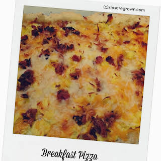 Gluten Free Breakfast Pizza.