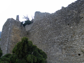 Photo: The ruins of the 13th century castle and fortifications are at a bit higher elevation.
