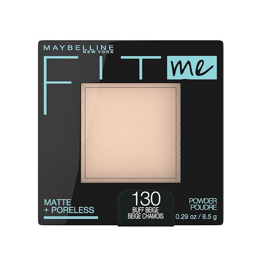 compacto fit me maybelline matte+poreless buff beige