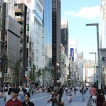 Ginza in Tokyo, Tokyo, Japan