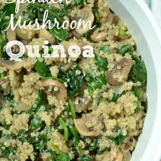 Spinach Mushroom Quinoa.