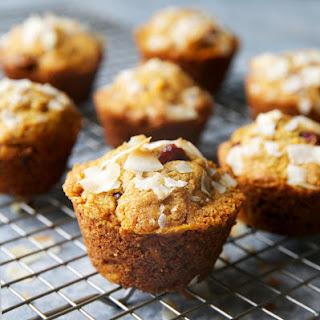 Healthy Cranberry-Orange Sweet Potato Muffins.