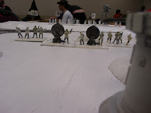 Photo: Scenerio 9: Hoth Last Stand - Snow Troopers can be seen in the distance.  The Rebel line will hold as long as possible.