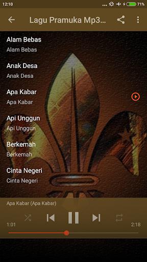 Kumpulan Lagu Pramuka + Lirik screenshots 3
