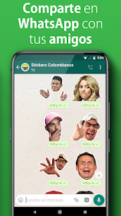 Stickers Colombianos Gratis WAStickerApps Screenshot