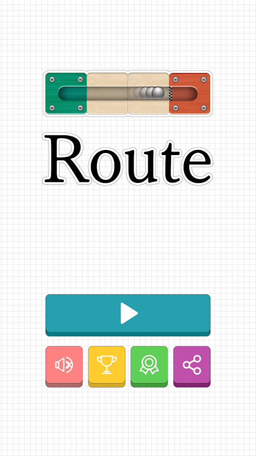 Route - slide puzzle game- screenshot