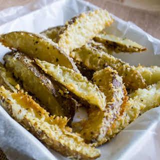 Garlic Parmesan Oregano Oven Fries.
