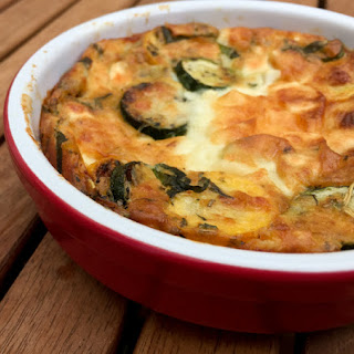 Courgette and Goat Cheese Clafoutis Recipe