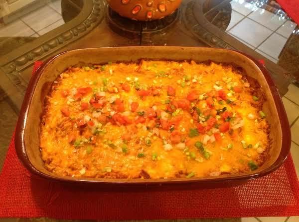 Chicken Tres Quesos (layered Chicken Enchiladas)