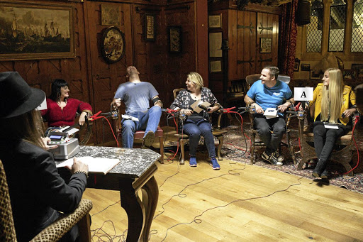 Attendees of the Fear weekend in the BBC's Meet the Humans series receive electric shocks.