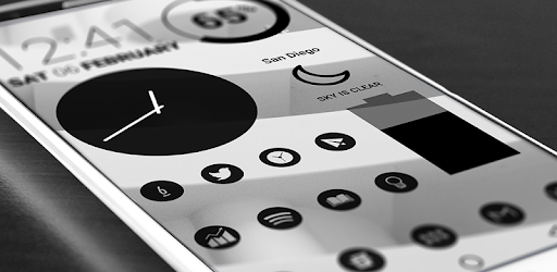 Dark Void Icônes minimalistes