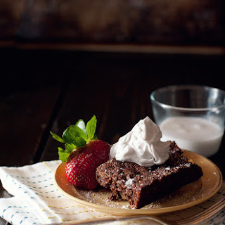 Paleo Brownies With Coconut Whipped Cream