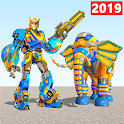 Elephant Robot Vs Lion Robot Transform War Games icon