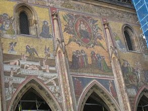 Photo: A 14th century mosaic on St. Vitus Cathedral.