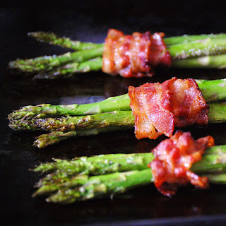 Bacon-Wrapped Roasted Asparagus.
