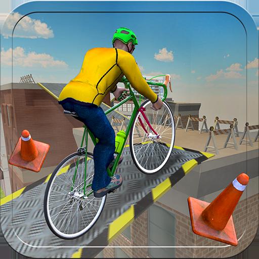 Rooftop BMX Kids Bicycle Rider