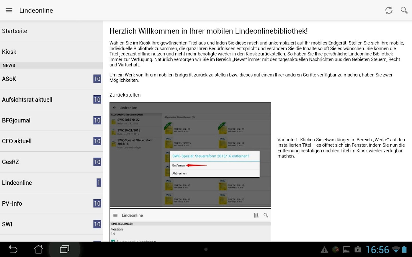 Lindeonline – Screenshot