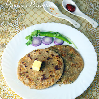 (Indian Cottage Cheese Paratha, Paneer Stuffed Paratha, Paneer Stuffed Roti)