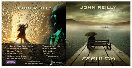 Photo: Artwork front and back for ZEBULON the new JOHN REILLY album.