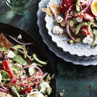 Quinoa Fattoush (Middle Eastern Salad)