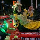 Bowser in a Mario Kart in Tokyo in Tokyo, Tokyo, Japan