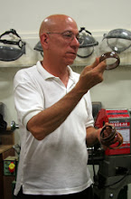Photo: Mike Colella has begun making bangles for sale.  He'll show us how in our February 2014 demo.