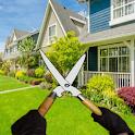 Garden repair grass cutter & farm flipper icon