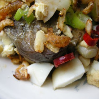 The Uniquely Aubergine with Egg & Dried Shrimps