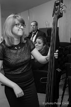 Photo: Bassist Jess waiting for the Big Band Gala