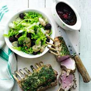 Herby Rack Of Lamb With Spring Blackberry Salad