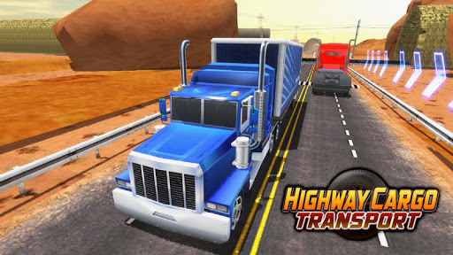Highway Cargo Truck Transport Simulator  captures d'écran 1