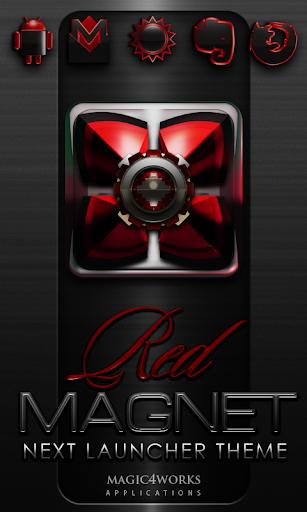 Next Launcher Theme Rot Magnet