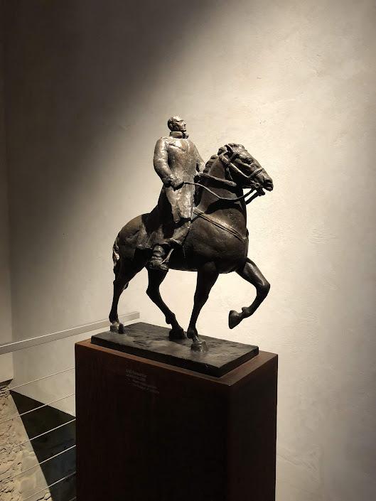 Horse & Man Sculpture