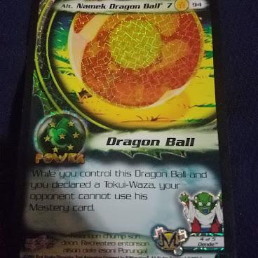 Score Ent. Dragonball Z CCG Card Alt. Namek Dragonball 7 (alt foil)