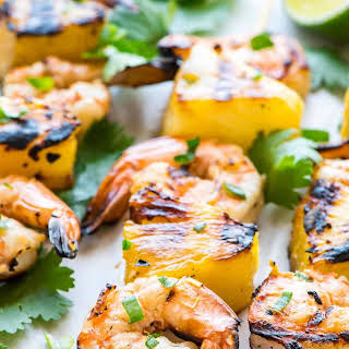 Coconut Pineapple Shrimp Skewers.