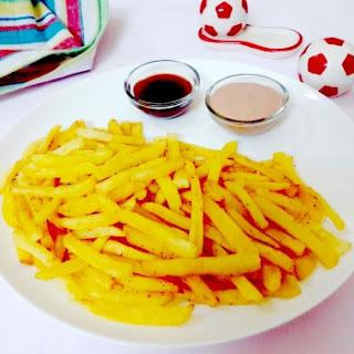 Homemade Crispy French Fries.