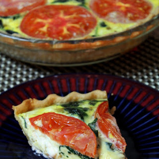Goat Cheese, Spinach & Tomato Quiche