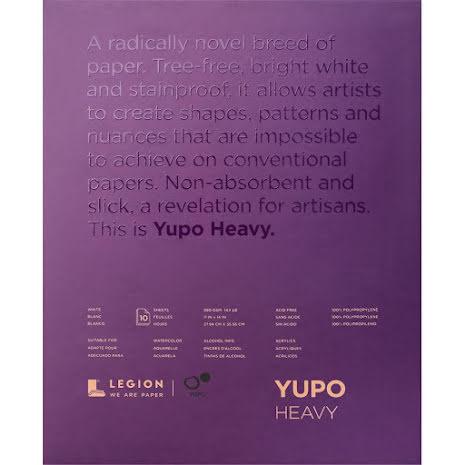 Yupo Heavy Pads 11X14 10 Sheets/Pkg - White 390gsm