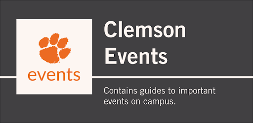The Clemson University Events app contains guides to important events on campus.