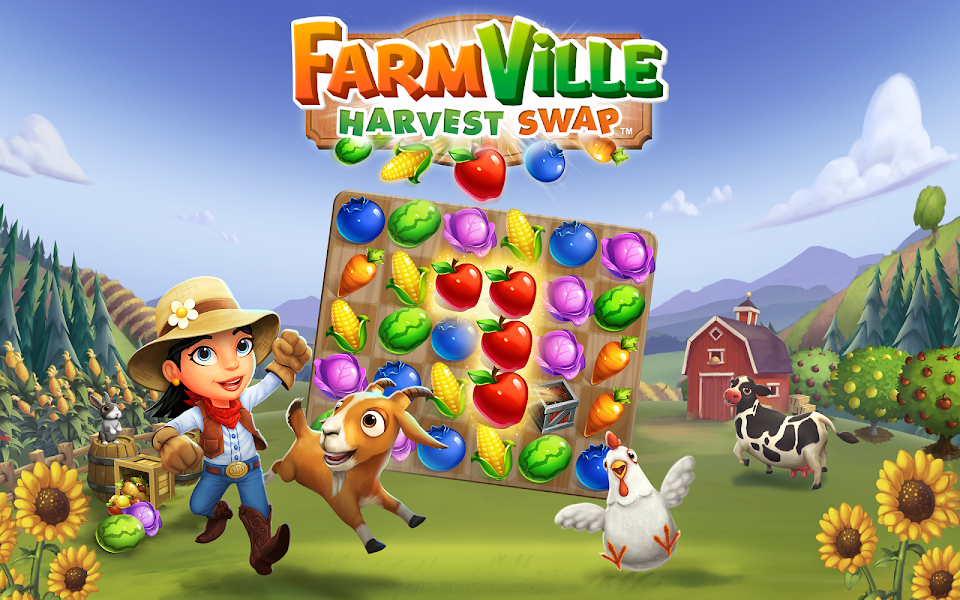 FarmVille Harvest Swap v1.0.908 (Unlimited Money) Hack Mod APK - Cover