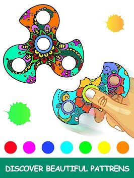 Fidget Spinner Mandala Coloring Book APK Screenshot Thumbnail 8